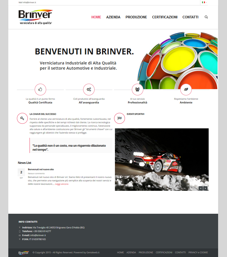 Brinver new website